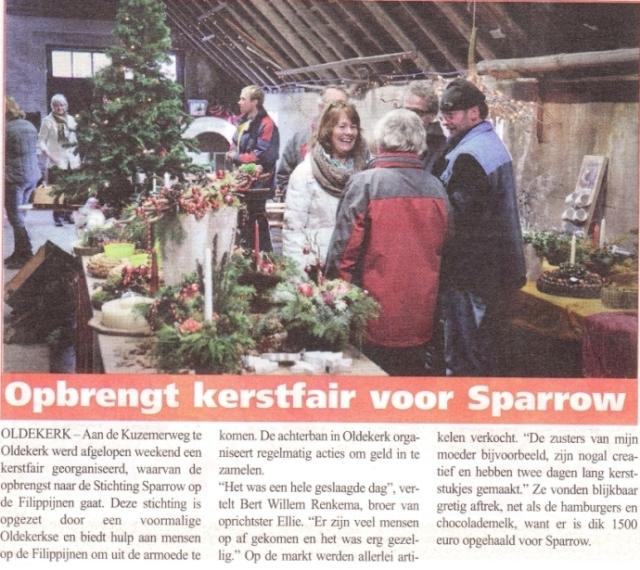Sparrow Foundation Christmas fair local newspaper