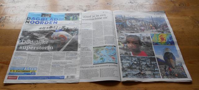 Noodhulp actie Typhoon Haiyan | Sparrow Foundation